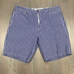 """Tailor Vintage Check Flat Front Shorts 10"""" Inseam"""